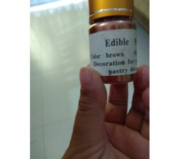 Edible brown dust color