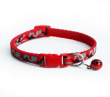 Camouflage Pet Collar (Red)