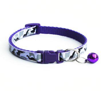 Paw Printed Pet Collar (Violet)