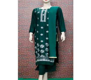 Readymade Full Sleeve Textile Printed Cotton Salwar Kameez For Woman