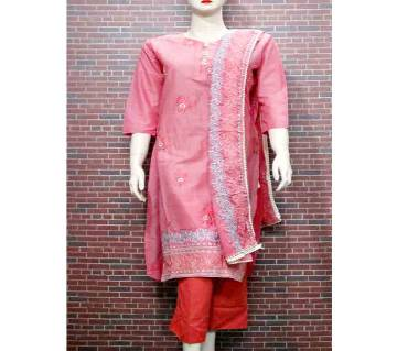 Readymade Textile Printed Full Sleeve Casual Cotton Salwar Kameez For Woman