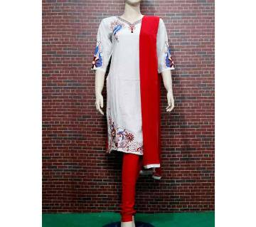 Embroidery Printed Soft Salwar Kamiz For Weman
