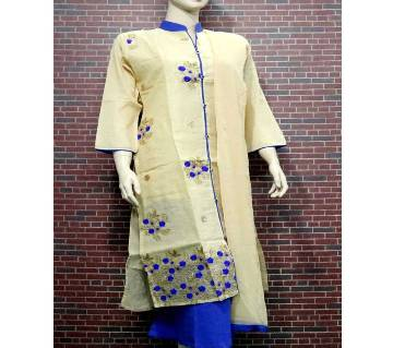 Stitched Full Sleeve Embroidery Printed 3Pcs For Woman