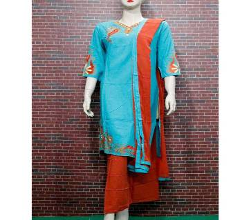 Lilen Embroidery Printed 3Pcs For Woman