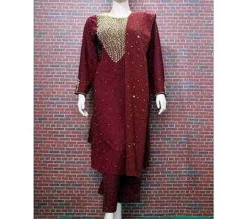 Stone Work Georgette 3Pcs for Woman
