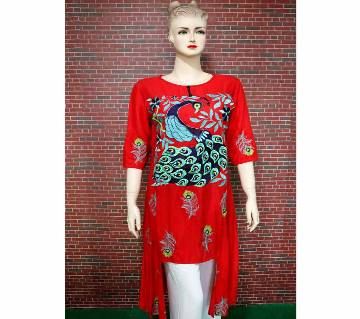Readymade Machine Embroidery Tops for Women