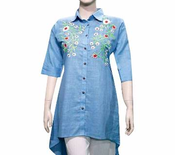 Readymade Embroidery Printed Modern and Stylish Tops For Women