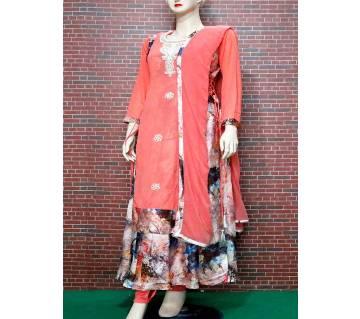 Stitched Shamu Silk 3Pcs For Woman