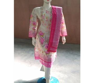 Readymade  Textile Printed Full Sleeve Casual Salwar Kameez For Women