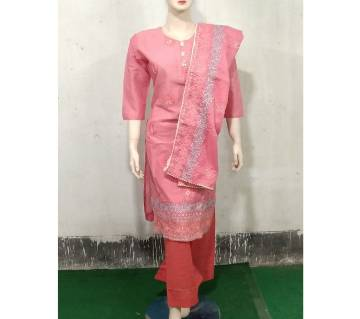 Readymade  Textile Printed Full Sleeve Casual Cotton Salwar Kameez For Women
