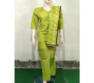 Readymade  Textile Printed Full Sleeve Cotton Salwar Kameez For Women