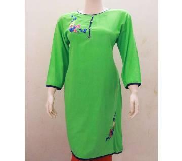 Embroidery Printed Single kurti For Women