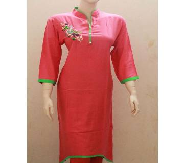 Embroidery Printed Full Sleeve Light Kurti For Woman
