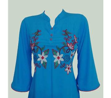 Embroidery Printed Single Casual Kameez For Woman