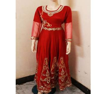 Embroidery Printed Party Gown For Women