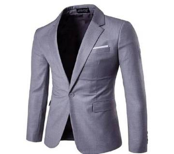 Ash Synthetic Casual Blazer For Men
