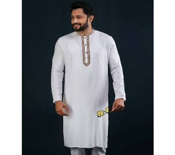 Cotton Semi Long Panjabi For Men