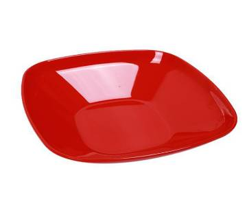 5 Inch Square Deep Bowl - Red