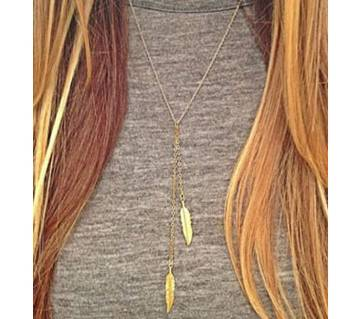 foreign trade fashion gold silver small tree leaves hot personality necklace