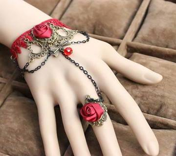 Red rose bracelets with rings