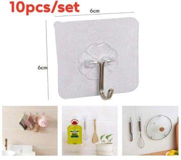 (10PCS) Strong Transparent wall hook