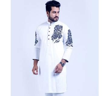 Semi Long Cotton Punjabi (Design)