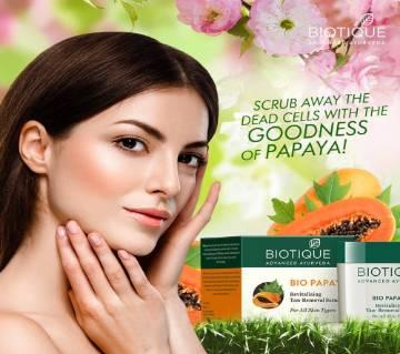 BIOTIQUE Bio Papaya Revitalizing Tan-removal স্ক্রাব - China