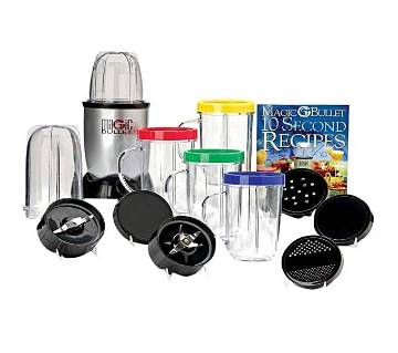 Magic Bullet Blender - 21 Pcs Set - Silver and Black