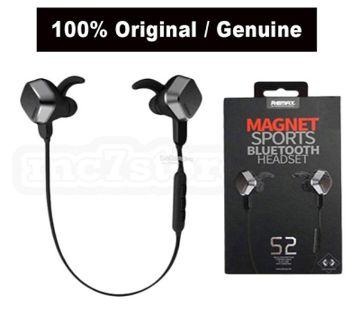Remax Rm-s2 Professional Magnet Sports Stereo ব্লুটুথ ইয়ারফোন (black)