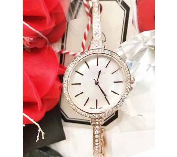 CK White & Rose Gold Watch with Bracelet