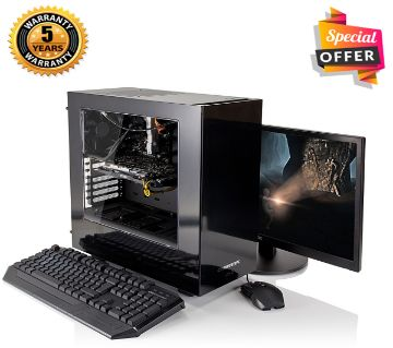 Intel Core i3 RAM 8GB HDD 500GB Graphics 2GB Built in and Monitor 17 Gaming PC Windows 10 64 Bit NEW Desktop Computer 2019