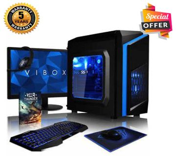 Intel Core i3 RAM 8GB HDD 1000GB (1TB) Graphics 2GB Built in and Monitor 17 Gaming PC Windows 10 64 Bit NEW Desktop Computer 2019
