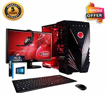 Intel Core i3 RAM 8GB HDD 1000GB (1TB) Graphics 2GB Built in and Monitor 19 Gaming PC Windows 10 64 Bit NEW Desktop Computer 2019