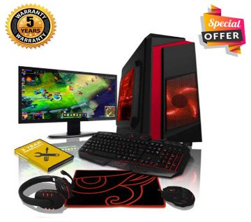 Intel Core i3 RAM 4GB HDD 500GB Graphics 2GB Built in and Monitor 19 Gaming PC Windows 10 64 Bit NEW Desktop Computer 2019