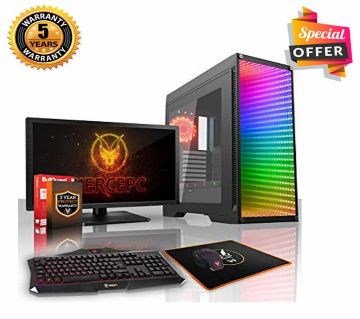 Intel Core i3 RAM 4GB HDD 1000GB (1TB) Graphics 2GB Built in and Monitor 17 Gaming PC Windows 10 64 Bit NEW Desktop Computer 2019