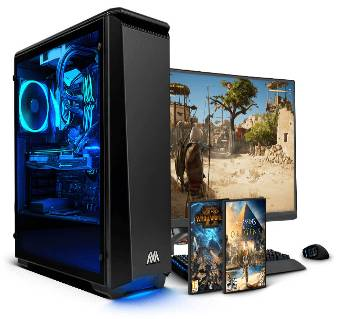 Desktop Intel Dual Core RAM 4GB 500GB & Monitor 19'' With Mouse And Keyboard