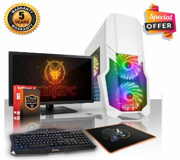 "Intel Dual Core Processor, RAM 2GB, HDD 500GB, Graphics 1GB, Built in and Monitor 19"", Gaming PC, Windows 10, 64 Bit"