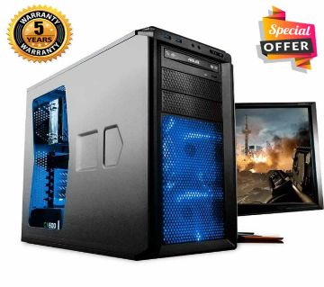 "Intel Dual Core RAM 2GB, HDD 500GB, Graphics 1GB Built in and Monitor 24"" Gaming PC Windows 10, 64 Bit"