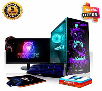 Intel Core i7 RAM 4GB HDD 1000GB (1TB) Graphics 3GB Built in (Internal+External) and Monitor 19 Gaming PC Windows 10 64 Bit NEW Desktop Computer 20