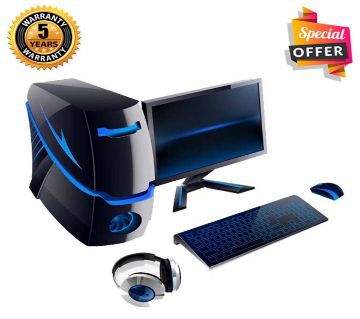 Intel Core i5 RAM 4GB HDD 1000GB (1TB) Graphics 2GB Built in and Monitor 24 Gaming PC Windows 10 64 Bit Desktop Computer 2019
