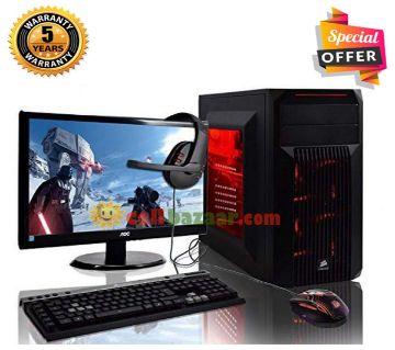 Intel Core i5 RAM 8GB HDD 1000GB (1TB) Graphics 2GB Built in and Monitor 24 Gaming PC Windows 10 64 Bit Desktop Computer 2019