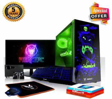 Intel Core i3 RAM 4GB HDD 1000GB (1TB) Graphics 2GB Built in and Monitor 24 Gaming PC Windows 10 64 Bit  Desktop Computer 2019