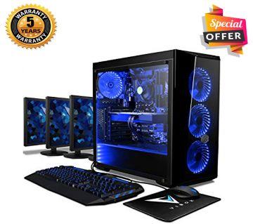 Intel Core i3 RAM 4GB HDD 1000GB (1TB) Graphics 2GB Built in and Monitor 32 Gaming PC Windows 10 64 Bit Desktop Computer 2019