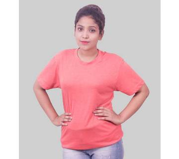 Half Sleeve solid T-Shirt for Ladies