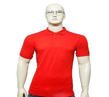Mens Polo Shirt Red P-1