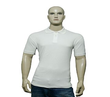 Mens Polo Shirt White P-1