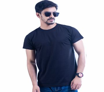 Mens Half Sleeve Cotton T-Shirt T-51