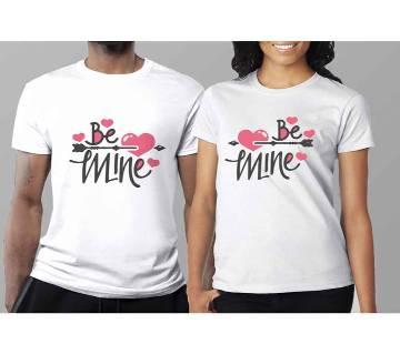 Half Sleeve Cotton T-Shirt For Couple C-4