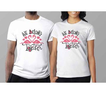 Half Sleeve Cotton T-Shirt For Couple C-5