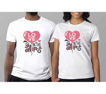 Half Sleeve Cotton T-Shirt For Couple C-7